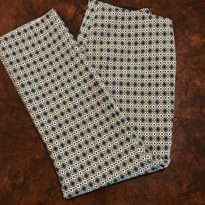 Zara Geometric cropped pants